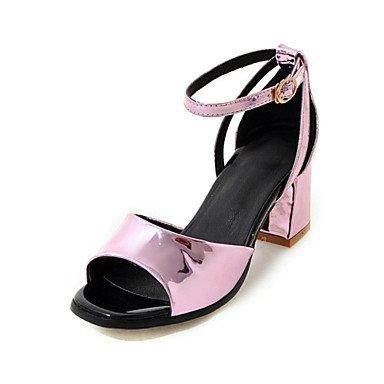 LvYuan Da donna-Sandali-Matrimonio Ufficio e lavoro Formale Casual Serata e festa-Comoda Innovativo-Quadrato-Lustrini Materiali personalizzati Pink