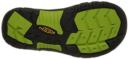 Keen Newport H2, Sandales de Randonnée Mixte enfant Noir (Black/Lime Green)