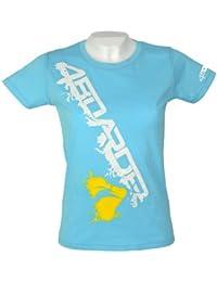 4boarder Boarder (kiter, wakeboarder, skateboarder, longboarder, surfer) Style du T-Shirt GONE WILD pour les femmes