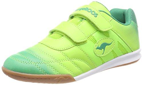 KangaROOS Unisex-Kinder Chelo Court V Sneaker, Grün (Lime/Ultramarine Green), 32 EU (Grün Jungen Turnschuhe)