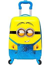 GOCART Polycarbonate 45 Cm Yellow Minion Pattern Hard Side Children's Luggage