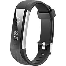 Lintelek LYUK-ID115U-BK, Activity Tracker , Lintelek Slim Fitness Watch, Touch Screen Bluetooth...