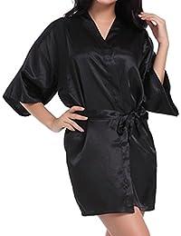 Juleya Wedding Bride Robe Satin Rayon Accappatoio Camicia da Notte per Le Donne Kimono Sleepwear