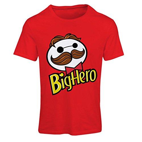 Frauen T-Shirt Big Hero (XX-Large Rot Mehrfarben) (Jubiläum Fitted T-shirt)