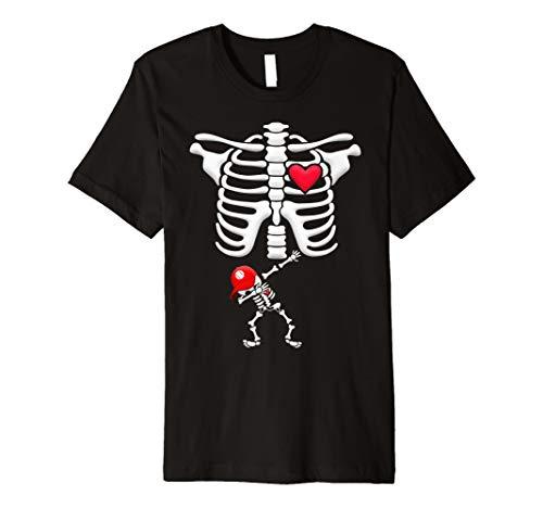 Schwangere Baseball Skelett Kostüm Halloween Shirt