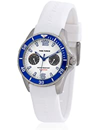 TIME FORCE TF-4110B11 Reloj para Chico, Multifunción, Blanco