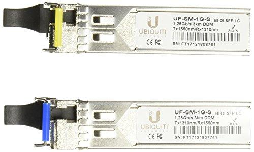 1g Single (Ubiquiti U Fiber, Single-Mode Module, 1G, BiDi, 2-Pack)