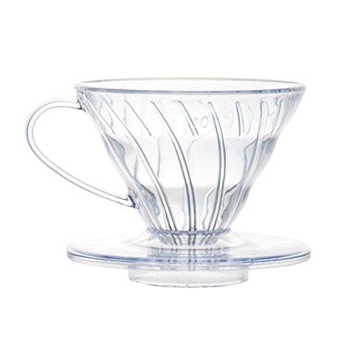 petsola Klar Kaffee Filter Cup Cone Drip Dripper Maker Halter Kunststoff - 2-4 Tasse - 4 Kaffee-filter Cone