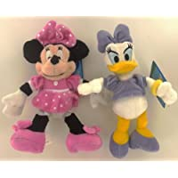 Disney Mickey Mouse - Peluches Clubhouse Daisy/Minnie 20 cm (pack de 2)
