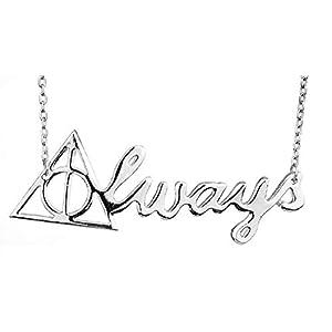 Halskette – Zauberer Wizard – Always – Heiligtümer des Todes – Reagle Idea – Silberfarbe