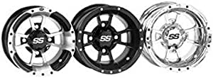 I.T.P. Tires I. T. P. Tires ITP SS112 Alloy Wheel MacHined FRT 10x5 for Honda for Kawasaki Suzuki