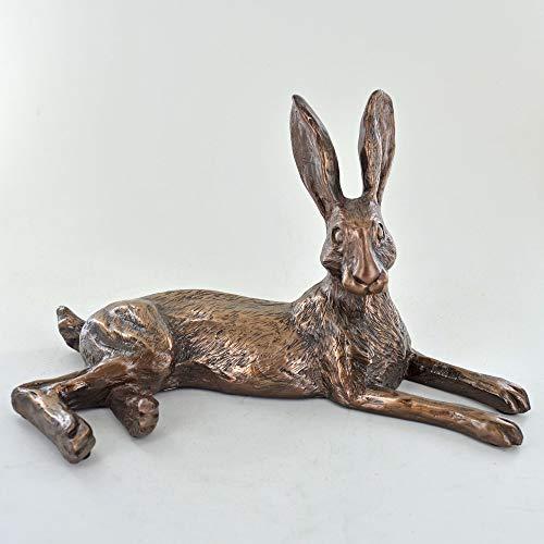 Harriet Glen Bluebell Hare Cold Cast Bronze Sculpture -