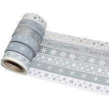 K-LIMIT 6er Set Washi Tape Dekoband Masking Tape Klebeband Scrapbooking Weihnachten Christmas 8775