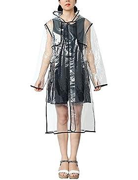 Zicac - Abrigo impermeable - chaqueta - para mujer
