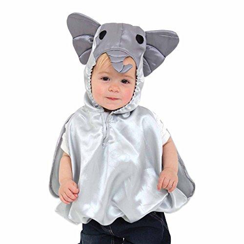 Kleinkind Kostüm Elefanten - Elefanten Kostüm für Babys und Kleinkinder 0-3 Jahre alt - Kostüm Karneval - Slimy Toad