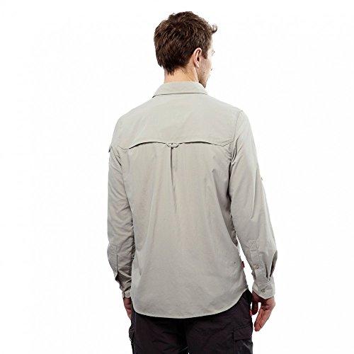 Craghoppers Men's CR165 NosiLife Adventure Long Sleeved Shirt, Parchment, Large