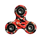 FREAO Tri-Spinner Fidget Hand Spinner Camouflage Multi-Color, EDC Focus Toys For Kids and Adults immagine