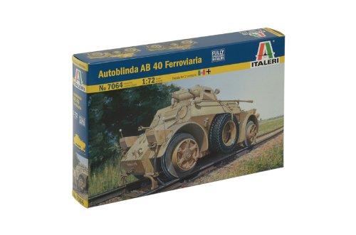 Italeri 7064 - autoblinda ab 40 ferroviaria model kit scala 1:72