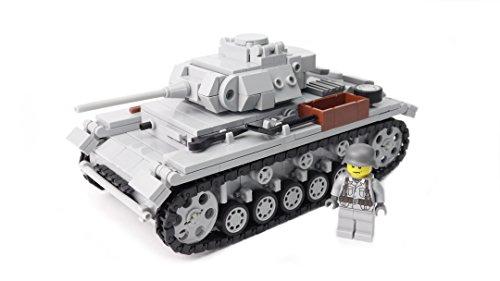 WW2 WWII Custom Panzer III Ausf. J Bausatz BrickArms, hochwertig bedruckte Minifigur, aus LEGO® Steinen