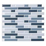 Pegatina de Pared, Pegatinas de Baldosas 3D Auto-Adhesivo Pegatinas de Azulejos Revestimiento Border Decorativo Impermeable para Cocina y Baño 11'x 10' (B09-4 Piezas)