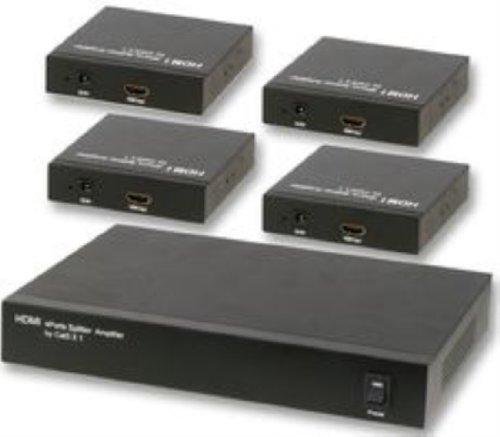Consoletronic HDMI über Cat5 1:4 Verteiler + RXS PSG03637 Hdmi-verteiler Über Cat5