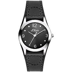 s.Oliver Damen-Armbanduhr XS Analog Quarz Leder SO-2623-LQ