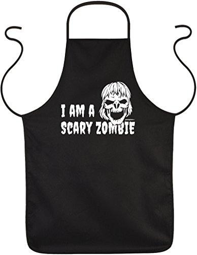 elige Halloween Party Schürze : Halloween/I am a Scary Zombie Halloween Kostüm Kochschürze schwarz ()