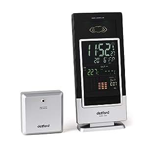 switel wsrc3000 wetterstation mit radio uhr schwarz. Black Bedroom Furniture Sets. Home Design Ideas