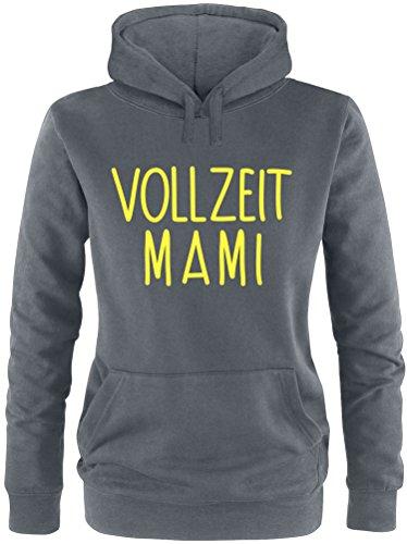 EZYshirt® Vollzeit Mami Damen Hoodie Anthrazit/Gelb
