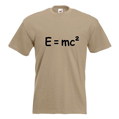 KIWISTAR - E=mc2 - e = mc2 Einstein T-Shirt in 15 verschiedenen Farben - Herren Funshirt bedruckt Design Sprüche Spruch Motive Oberteil Baumwolle Print Größe S M L XL XXL Khaki