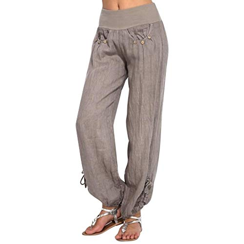 8af2b2d6f Reaso Femme Pantalon Lâche Taille Haute Stretch Mode Dentelle Insérer Jambe  Pantalon Large Sport Leggings Elastique Casual Pants Trousers (XL, Z ...