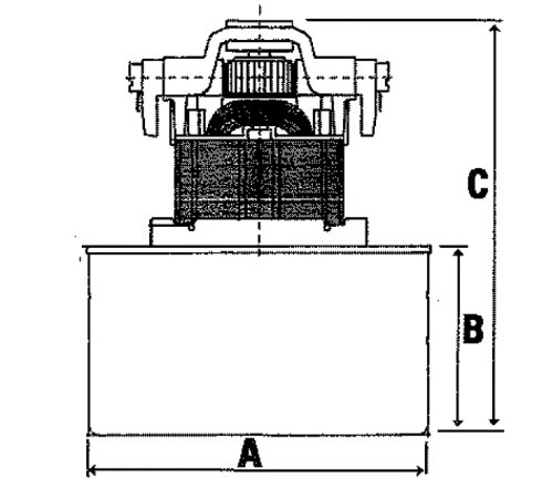 Fixapart W7-18506/A Staubsaugermotor für Nass und Trockensauger