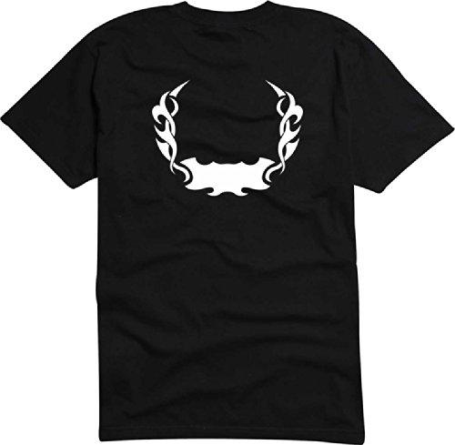 T-Shirt Herren Tribal feuer Schwarz