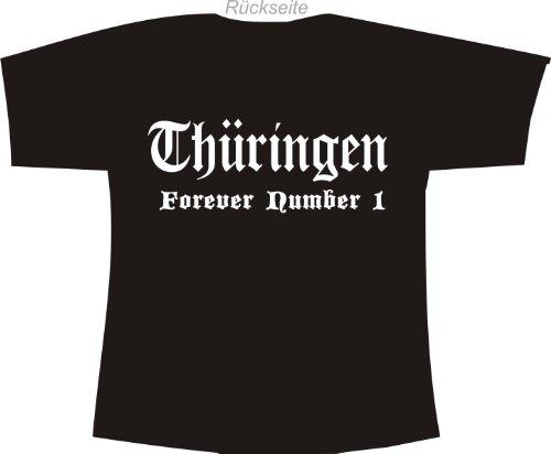Thüringen - Forever Number 1; Städte Polo T-Shirt schwarz