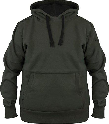 Fox Green Black Hoodie - Angelpullover, Hoody, Kapuzenpullover zum Angeln, Anglerpullover, Pullover für Angler, Größe:M -