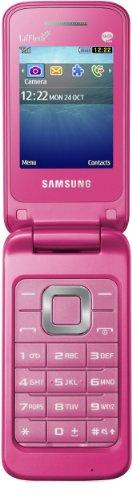 Samsung C3520 La Fleur Klapphandy (5,6 cm (2,2 Zoll) Display, 1,3 Megapixel Kamera) coral-pink - La Fleur