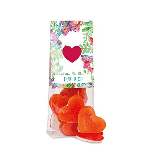 Herz Box, tolle Herz-Fruchtgummi und Marshmallow Süßigkeiten in einer hochwertigen Box, 160 Gramm, schöne Geschenkidee zum Jahrestag oder Valentinstag