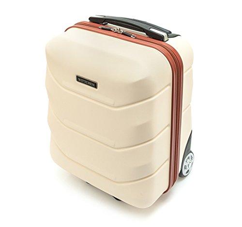 WITTCHEN Reisekoffer Trolley 17 Koffer Bordgepäck Handgepäck, 42x32x25 cm, Weiß, 25 Liter, Größe: klein, XS, Bordgepäck, Handgepäck, ABS, 56-3A-281-88 - 4
