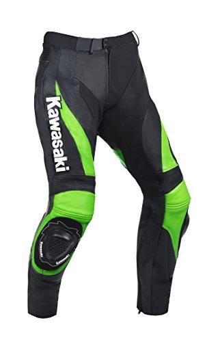 Kawasaki Moto pantalones de cuero (M (EU50))