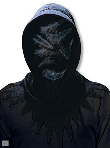 Dunkle Phantom Kostüm - schwarze Netz Phantom Maske