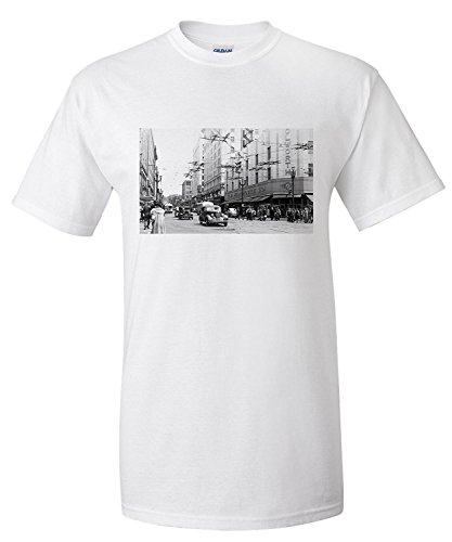 seattle-washington-view-of-a-downtown-street-corner-old-woolworth-bldg-premium-t-shirt