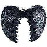 YOEEKU Engel Flügel aus Federn Kostüm für Halloween Karneval Cosplay Fasching