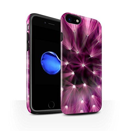 STUFF4 Glanz Harten Stoßfest Hülle / Case für Apple iPhone 8 / Lila Muster / Multi Farbe Licht Blume Kollektion Rosa