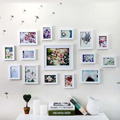 BJYG Löwenzahn Moderne Einfachheit Kreative Kombination Schlafzimmer Rahmen Wand Wohnzimmer Restaurant Original Gemälde Herz Massivholz Foto Wanddekoration qualität (Farbe: C)