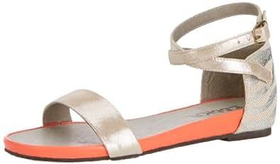 Esska Womens India Fashion Sandals 5055535328599 Silver/Fluo 3 UK, 36 EU