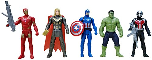 Bonkerz The Team Avengers Set of Five Action Figures