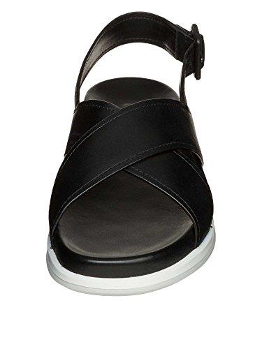 PRADA Femmes Sandales cuir véritable Noir