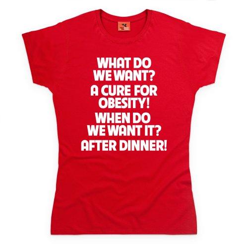 Obesity T-Shirt, Damen Rot