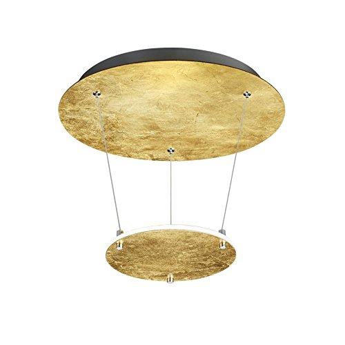 Trio Zenit Plafón de luz indirecta LED Integriert, 19 W, Dorado, 36 x 36 x 50 cm