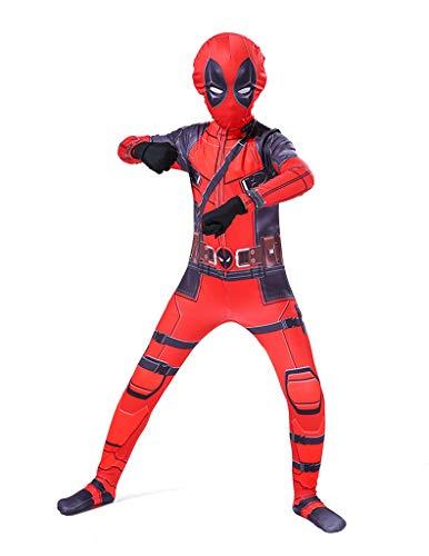 Xiaodun77 Boy Deadpool Jumpsuit Super Skin Kostüm Kinder Frauen zweite Haut Body Onesie Kleidung Outfit Halloween Rollenspiel Kleidung für - Super Kostüm Skins